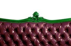 γνήσιος καναπές δέρματος σπορείων στοκ εικόνα