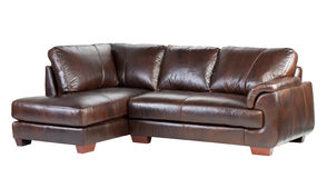 γνήσιος καναπές πολυτέλειας δέρματος στοκ εικόνες