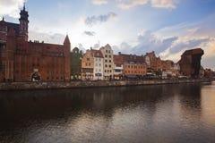 Γντανσκ παράλληλα με τον ποταμό Motlawa Στοκ φωτογραφία με δικαίωμα ελεύθερης χρήσης