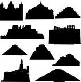 γνωστό αρχιτεκτονική Μεξ&iot διανυσματική απεικόνιση