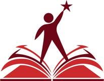 γνώση βιβλίων στόχου ελεύθερη απεικόνιση δικαιώματος