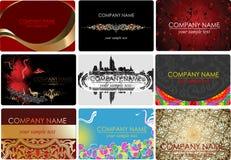 γοητεία εννέα μόδας επαγγελματικών καρτών ελεύθερη απεικόνιση δικαιώματος