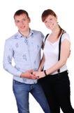 Γοητεία του νέου ζεύγους στοκ φωτογραφίες με δικαίωμα ελεύθερης χρήσης