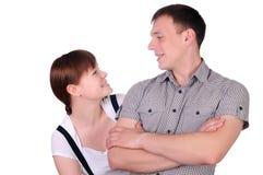 Γοητεία του νέου ζεύγους στοκ φωτογραφία
