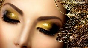 Γοητεία Makeup μόδας στοκ φωτογραφία με δικαίωμα ελεύθερης χρήσης