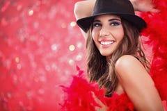 Γοητεία showgirl στοκ εικόνα με δικαίωμα ελεύθερης χρήσης