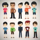 γοητευτικές νεολαίες &a Διανυσματική απεικόνιση