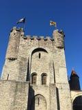 Γοητευτικές οδοί της Γάνδης Γαλλία - το Castle στοκ εικόνες