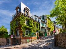 Γοητευτικές οδοί του Παρισιού Στοκ εικόνα με δικαίωμα ελεύθερης χρήσης