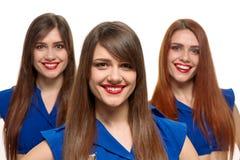 Γοητευτικές χαμογελώντας αδελφές στοκ φωτογραφίες