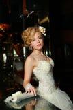 γοητευτική νύφη με ένα τέλειο βλέμμα Στοκ εικόνα με δικαίωμα ελεύθερης χρήσης
