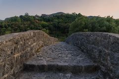Γοητευτική φύση του Μαυροβουνίου τον Αύγουστο στοκ εικόνες