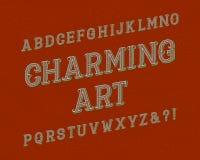 Γοητευτικός χαρακτήρας τέχνης Εκλεκτής ποιότητας πηγή Απομονωμένο αγγλικό αλφάβητο απεικόνιση αποθεμάτων