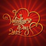 Γοητευτικός χρυσός - ημέρα βαλεντίνων ελεύθερη απεικόνιση δικαιώματος