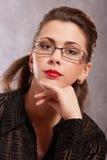 γοητευτικό πορτρέτο brunette Στοκ Φωτογραφία