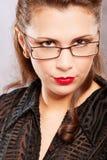 γοητευτικό πορτρέτο brunette Στοκ φωτογραφίες με δικαίωμα ελεύθερης χρήσης