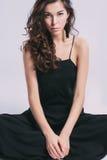 γοητευτικό πορτρέτο brunette Στοκ Εικόνες