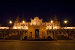 Γοητευτικό Plaza de Espana τη νύχτα Στοκ Εικόνες