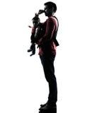 Γονείς με τη σκιαγραφία μωρών Στοκ εικόνες με δικαίωμα ελεύθερης χρήσης