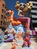 Γοργόνες σε Las Fallas Στοκ Εικόνες