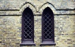 Γοτθικά παράθυρα εκκλησιών Στοκ Φωτογραφίες