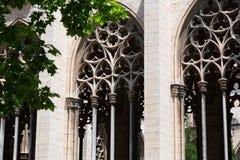 Γοτθικά παράθυρα του παλατιού επισκόπων vic Στοκ φωτογραφίες με δικαίωμα ελεύθερης χρήσης