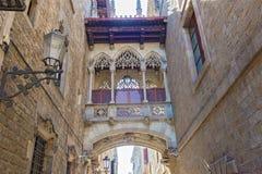 Γοτθικά τέταρτα στη Βαρκελώνη, Ισπανία Στοκ φωτογραφία με δικαίωμα ελεύθερης χρήσης