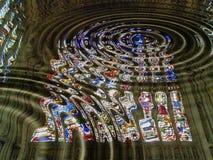 γοτθικά Windows καθεδρικών ναών Στοκ Φωτογραφία