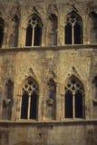 γοτθικά Windows πύργων πετρών Στοκ Φωτογραφία