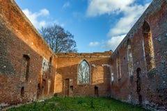 Γοτθικές καταστροφές της εκκλησίας Στοκ Εικόνες