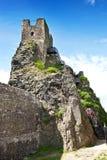 Γοτθικές καταστροφές του κάστρου Trosky, τσεχικός παράδεισος, Τσεχία Στοκ Φωτογραφία