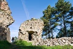Γοτθικές μεσαιωνικές καταστροφές του κάστρου Kamyk, NAD Vltavou, κεντρική Βοημίας περιοχή, της Τσεχίας Kamyk Στοκ Εικόνες