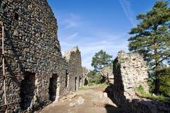 Γοτθικές μεσαιωνικές καταστροφές του κάστρου Kamyk, NAD Vltavou, κεντρική Βοημίας περιοχή, της Τσεχίας Kamyk Στοκ Εικόνα