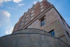 Γοτθική αρχιτεκτονική δικαστηρίων του Άσβιλλ στο κέντρο της πόλης στοκ εικόνες με δικαίωμα ελεύθερης χρήσης