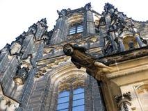 Γοτθική αρχιτεκτονική του καθεδρικού ναού του ST Vitus, Πράγα, τσεχικό republ Στοκ εικόνες με δικαίωμα ελεύθερης χρήσης
