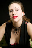 γοτθική γυναίκα πορτρέτου Στοκ Εικόνες