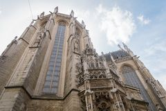 Γοτθική εκκλησία στις Βρυξέλλες Στοκ φωτογραφία με δικαίωμα ελεύθερης χρήσης