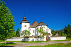 Γοτθική εκκλησία στο υπαίθριο μουσείο, Σλοβακία Στοκ εικόνα με δικαίωμα ελεύθερης χρήσης