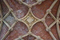 Γοτθική λεπτομέρεια του μεσαιωνικού Δημαρχείου σε Mechelen στοκ εικόνες με δικαίωμα ελεύθερης χρήσης