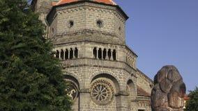Γοτθική και βασιλική Άγιος Προκόπιος αναγέννησης στο μοναστήρι Trebic, περιοχή της ΟΥΝΕΣΚΟ, Δημοκρατία της Τσεχίας απόθεμα βίντεο