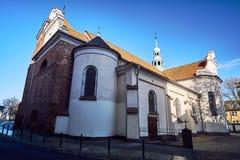Γοτθική, μεσαιωνική εκκλησία, με τον πύργο Στοκ Εικόνα