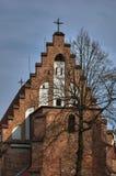Γοτθική μεσαιωνική καθολική εκκλησία Στοκ εικόνες με δικαίωμα ελεύθερης χρήσης