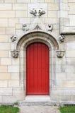 Γοτθική μπροστινή πόρτα Στοκ Φωτογραφίες