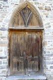 Γοτθική πόρτα εκκλησιών ύφους από το 1823 Στοκ Εικόνες