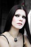 γοτθική χλωμή γυναίκα δερμάτων Στοκ φωτογραφίες με δικαίωμα ελεύθερης χρήσης