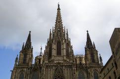 Γοτθικός καθεδρικός ναός της Βαρκελώνης, έδρα της αρχιεπισκοπής της Βαρκελώνης, στην Καταλωνία, Ισπανία στοκ εικόνες