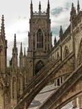 Γοτθικός καθεδρικός ναός αβαείων μοναστηριακών ναών της Υόρκης στοκ εικόνες