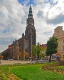 Γοτθικός καθεδρικός ναός σε Swidnica στοκ εικόνα με δικαίωμα ελεύθερης χρήσης