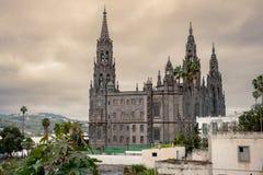 Γοτθικός καθεδρικός ναός του San Juan Bautista Arucas Θλγραν θλθαναρηα, S Στοκ Εικόνες