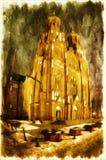 Γοτθικός καθεδρικός ναός Στοκ Εικόνα